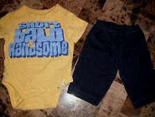 baby boys THE CHILDREN'S PLACE carters OUTFIT short bald handsome 0-3 MONTHS