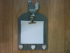 HEN and HEARTS WALL MOUNTED NOTE PAD MEMO BOARD