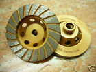 "4"" inch 5/8"" arbor THK DIAMOND TURBO sintered segment Grinding Cup Wheel disc"