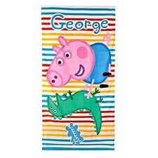 PEPPA PIG telo mare a righe in spugna fantasia con george 70x140 cm da bambino