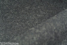 D52 LUXURIOUS BOILED PURE WOOL& MOHAIR PLAIN CHARCOAL GREY MELANGE made in italy