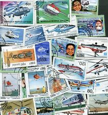 25 DIFFERENT STAMPS SHOWING HELICOPTERS - AVIATION!