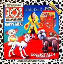 1991 McDonalds 101 Dalmatians MIP Complete Set - Lot of 4, Boys & Girls, 3+