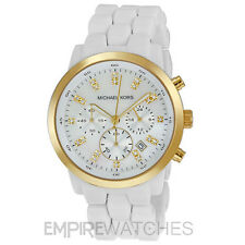 *NEW* MICHAEL KORS LADIES SWAROVSKI WHITE RITZ WATCH - MK5218 - RRP £199