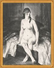 Evening, Nude on Bed George Wesley Bellows Nackte Frau Akt Bett Abend B A2 02054