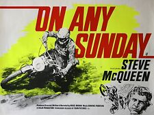 "On Any Sunday Steve Mcqueen 16"" x 12"" Reproduction Movie Poster Photograph"
