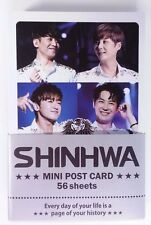 ShinHwa Photo Mini Post Card 56 Sheets KPOP Card K-POP Korean K Pop