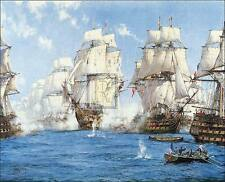 "MONTAGUE DAWSON ""Battle of Trafalgar"" royal navy PRINT! SIZE:68cm x 84cm NEW"