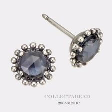 Authentic Pandora Silver Midnight Star Blue CZ Earrings 290561NBC