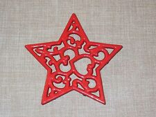 NEW~Red CAST IRON Star Shaped Functional Trivet - Wall Decor Hanging