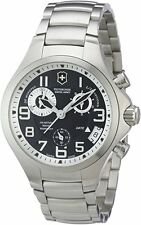 Swiss Army Victorinox Men's 241466 Base Camp Silver Bracelet/Ardoise Stainless