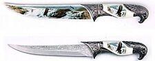 Deko Messer Brieföffner mit Scheide Weißkopfseeadler weiß ziselierte Klinge