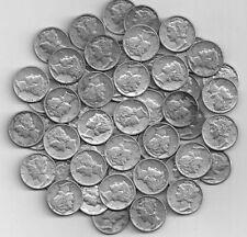Full  Roll of 50 Silver Mercury DImes  G to AU