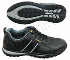 MENS BLACK LEATHER LIGHTWEIGHT STEEL TOE CAP SAFETY SHOES TRAINERS BOOTS WORK SZ