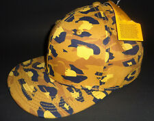 MENS H&M CAMO MUSTARD SNAPBACK CAP ADJUSTABLE HAT ONE SIZE
