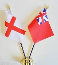 England & Colonial Red Ensign Double Friendship Table Flag Set