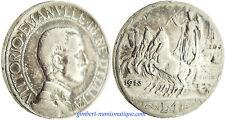ITALIE  ,  VICTOR  EMMANUEL  III  ,    LIRE  ARGENT  1913
