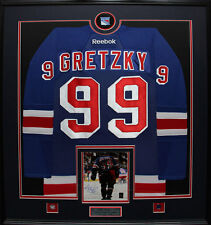 Wayne Gretzky New York Rangers jersey frame with signed 8x10