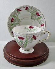 Tuscan CUP & SAUCER Purple Thistle EXCELLENT