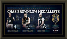 HISTORY OF THE BROWNLOW MEDAL - CARLTON FC SIGNED LITHOGRAPH AFLPA COA -FRAMED