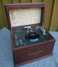 C.1930s GECoPHONE WOOD CASE CRYSTAL RADIO/RECEIVER~SET No1~ENCLOSED CATS WHISKER