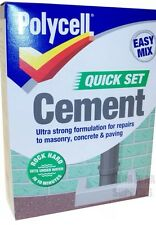 POLYCELL POLYFILLA QUICK SET EASY MIX CEMENT 2KG - MASONARY CONCRETE PAVING