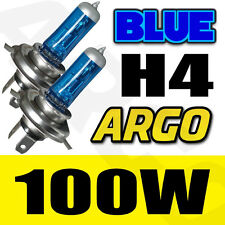 BLUE 12V H4 100 WATT 50%=100W XENON GAS HID HALOGEN BULB HI OR LOW BEAM MAIN DIP