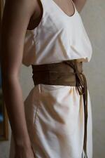"Handmade Canadian Made  OBI CAPPUCINO Suede "" Wrap-Around-Tie-Belt"" Large"