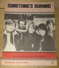 KENNY ROGERS ~ SOMETHING'S BURNING ~ ORIGINAL UK SONG MUSIC LYRIC SHEET 1969