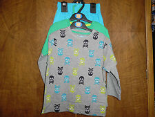 M&S 2 pack boys pyjamas mix & match skull & crossbones age 2-3