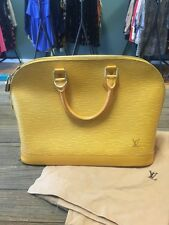Louis Vuitton Epi Alma PM Yellow Bag