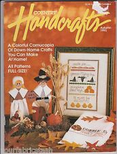 Country Handicrafts Fall Autumn Applique Halloween Pins 1993 back issue Magazine
