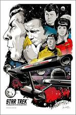Star Trek Official Alternative Movie Poster by Joshua Budich S/N /500 NT Mondo