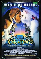 CATS AND DOGS CineMasterpieces ORIGINAL MOVIE POSTER 2001 NM-M ANIMAL PET LOVER