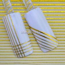 3D Gold Nail Art Liner Stripe Sticker Decals For Nail Tips Decoration  BLE041J