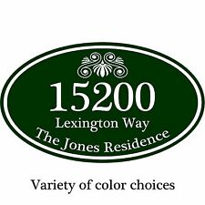 """Personalized Home Address Sign Aluminum Plaque 12"""" x 7"""" Custom Colors Available"""