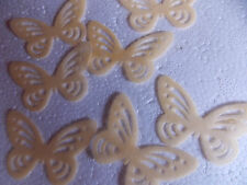 20 Precortada Comestibles wafer/rice De Papel Mariposas En Varios Colores Cupcake Toppers
