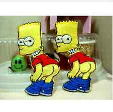 Bart Simpson Embroidery patch  110mm x 40mm ( 2 patches)