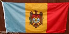 Moldova Flag - 1:2 Ratio with Correct Pantone Colours *** TO CLEAR ***