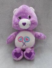 """Official Care Bears Share Bear - Soft Plush Toy / Teddy - Approx 8"""" Tall"""
