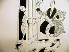 Anne Fish Cartoon ADAM GETS a SPECIAL WAR JOB 1918 Art Deco Print  Matted