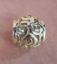 AUTHENTIC PANDORA AMAZING 14K GOLD BEAD #750464 CHARM BEAUTIFUL ELEGANT F/SH