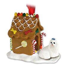 MALTESE Dog Gingerbread Ginger Bread House Christmas ORNAMENT