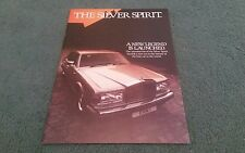 1980 1981 ROLLS ROYCE SILVER SPIRIT A NEW LEGEND IS LAUNCHED UK BROCHURE