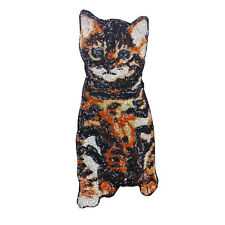 Beaded Sequin Cat Pattern Design Embroidery Clothes Patches Lace Applique Sew-on