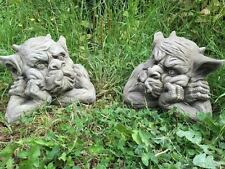 Pair Of Gargoyles Statues Garden Ornament Latex only Mould/Mold