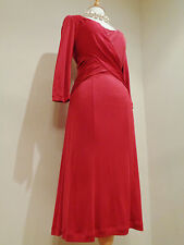 Ghost red pure silk jersey froncé lisa robe tailles uk 10 nwt neuf rrp £ 165