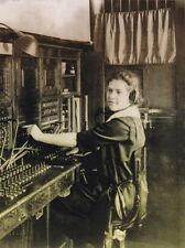 "*Postcard-""The Operator""  ...on Old Antique Switchboard-  ...Classic-"
