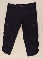 NWT Woolrich Capris Ladies Womens Hiking Camping Navy Blue Size 12