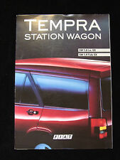FIAT TEMPRA STATION WAGON SALES BROCHURE SW 1.8 IE SX 1.9 T DS SX FOLD OUT STYLE